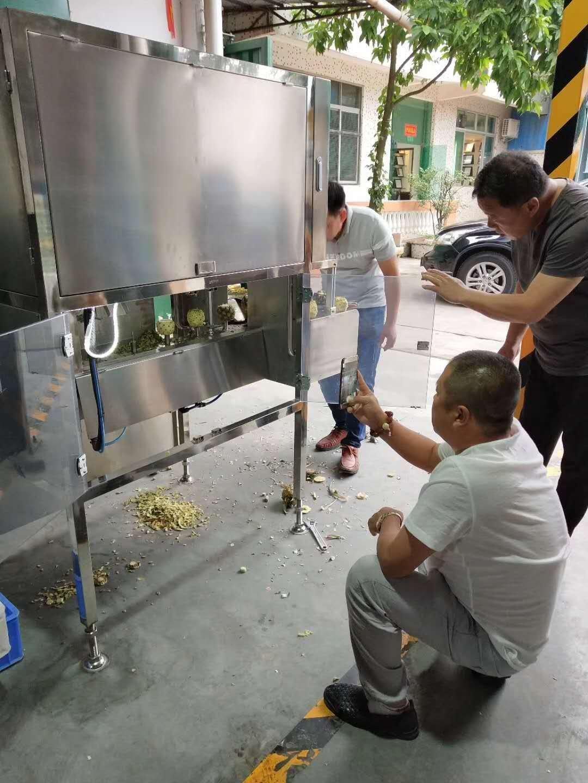 厂家供应带把小菠萝削皮机,小菠萝剥皮机,小菠萝去皮加工设备